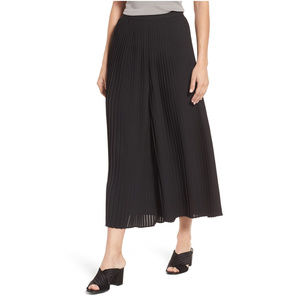 Black Knife Pleated Wide Ankle Palazzo Pants XL
